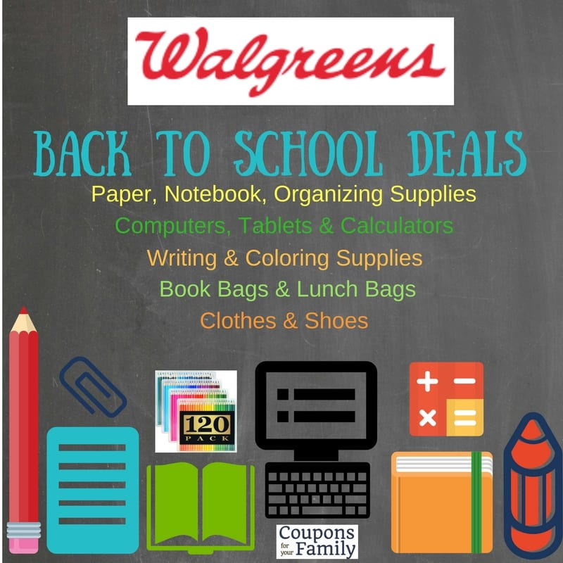 Walgreens Back To School Deals Aug 7 – 13: $.17 Folders, Rulers, Highlighters plus $.49 5pk Mechanical Pencils and more