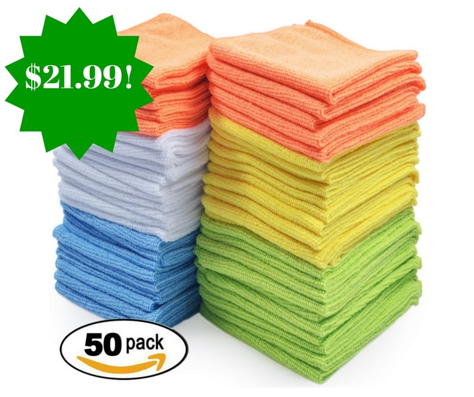 Microfiber Cloth Best: Best Microfiber Cleaning Cloth 50 Pack Only $21.99 (Reg