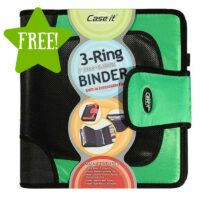 FREE Case It 3-Ring Binder with 2″ Strap Closure After Points