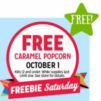 FREE Caramel Popcorn (10/1 Only)