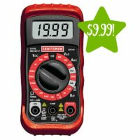 Craftsman 8 Function Digital Multimeter Only $9.99 (Reg. $20)