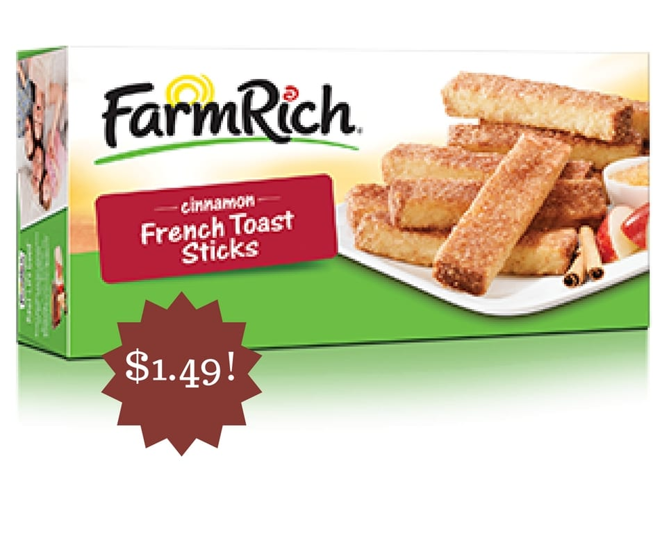 farm rich cinnamon french toast sticks only  1 49