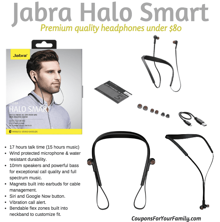 Jabra Halo Smart Wireless Headset for under $80!