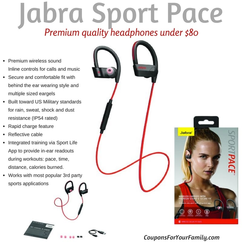 Jabra Sport Pace Wireless Headset for under $80!