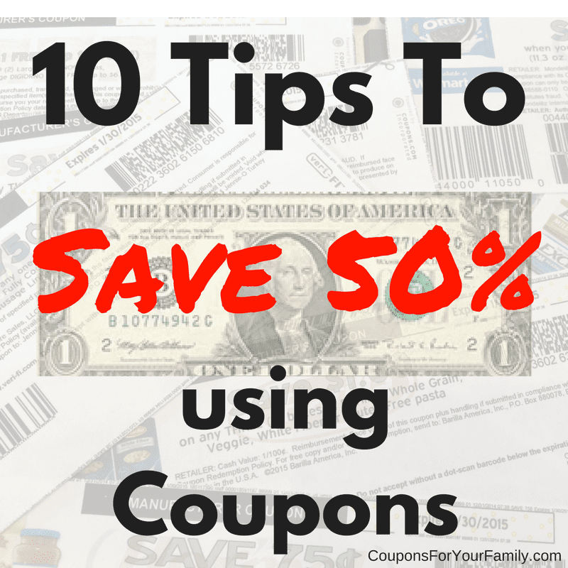 Save 50% with Coupons