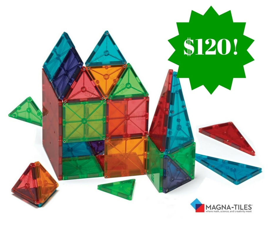Magna-Tiles® Clear Colors are translucent and brightly colored, like stained glass! Sparks hours of imaginative free play in children. Anything they can dream, they can create!