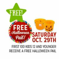 Kmart: FREE Halloween Pail (10/29 Only)