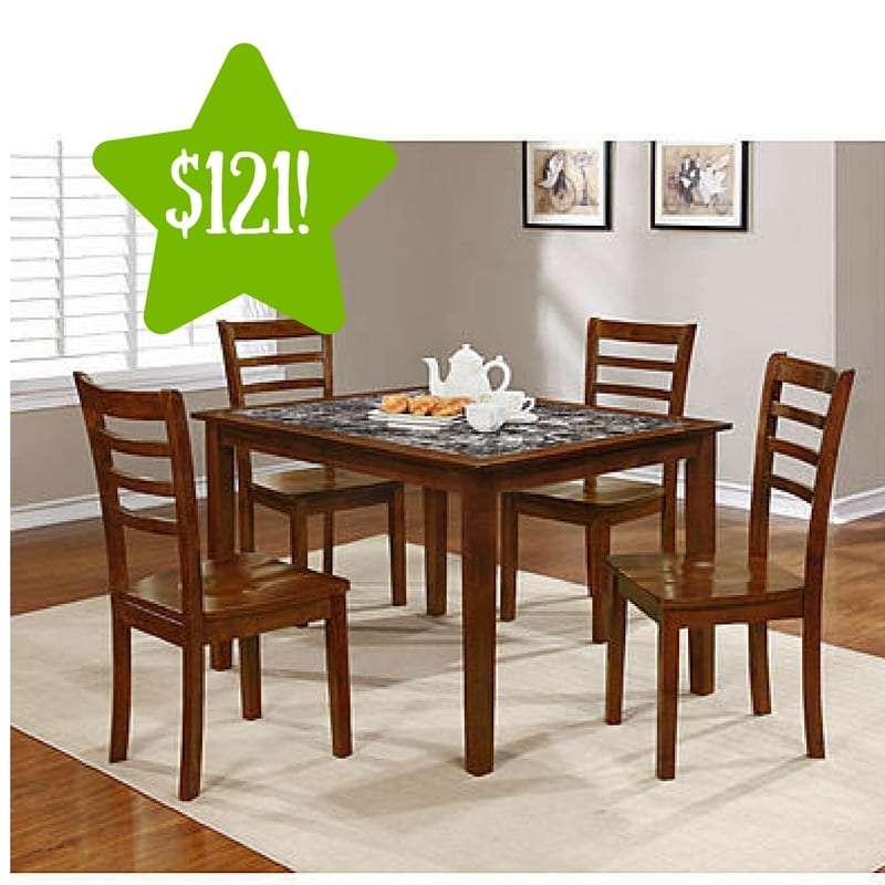 Kmart: Essential Home Jackson 5pc Faux Marble Dining Set Only $121 After  Points (Reg