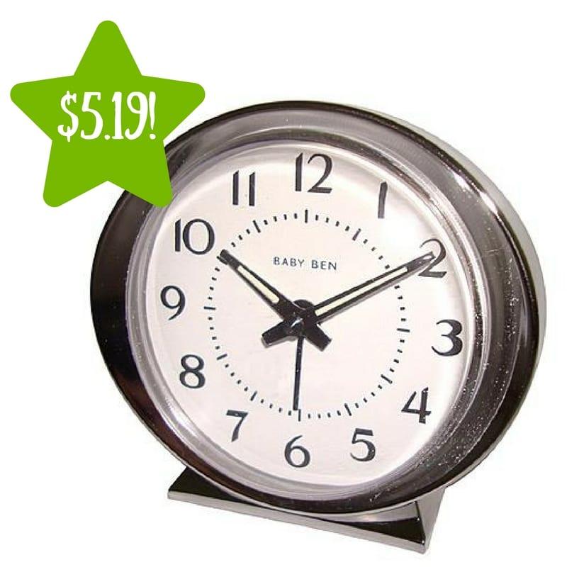 Kmart babyben white keywind alarm clock only reg for Best alarm clock 2016