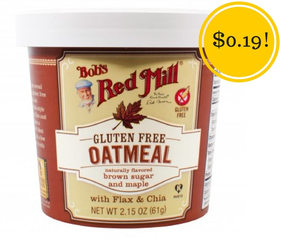 Target: Bob's Red Mill Oatmeal Cups Only $0.19