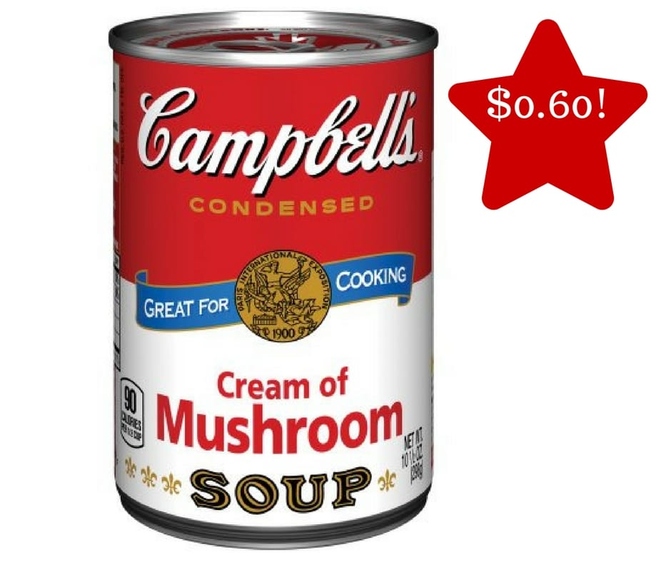 Tops: Campbell's Cream of Mushroom Soup Only $0.60