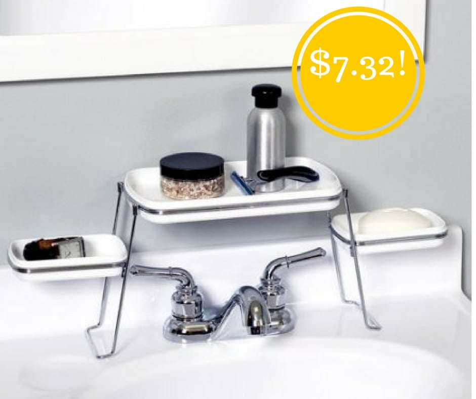 Walmart: Small Spaces Over-the-Faucet Shelves Only $7.32 (Reg. $12)