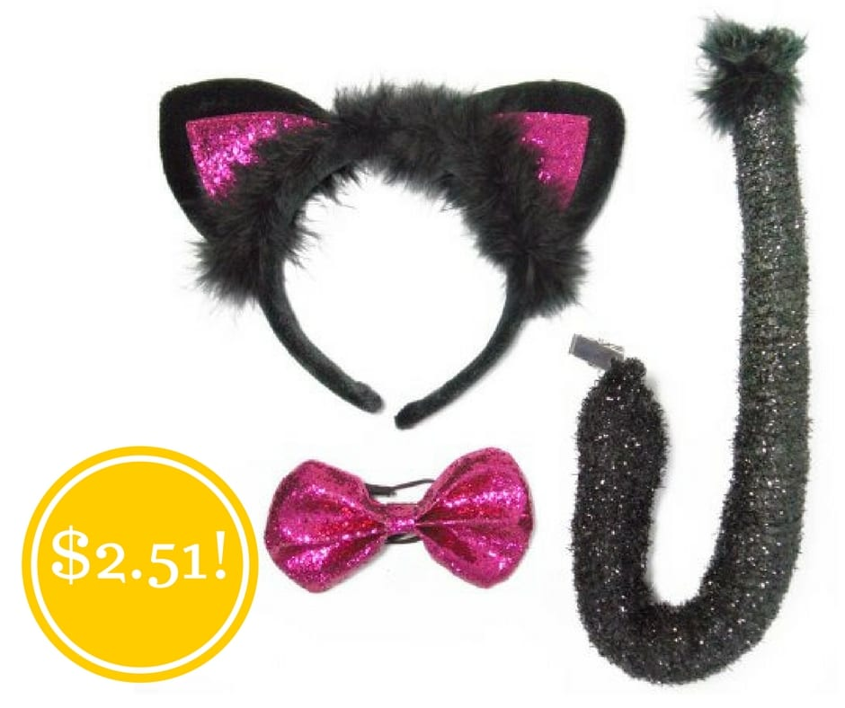 Walmart: Hot Pink Cat Ears Halloween Accessory Kit Only $2.51 (Reg. $5)