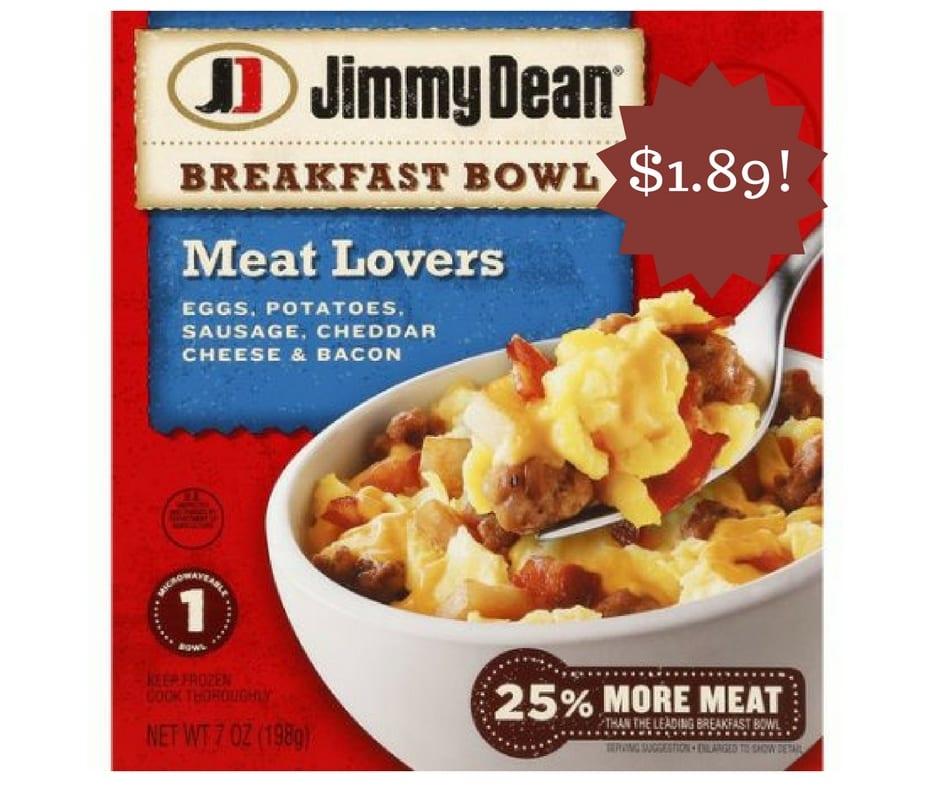 Wegmans: Jimmy Dean Breakfast Bowl Only $1.89
