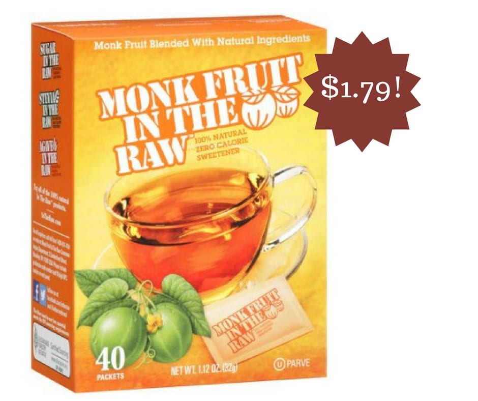 Monk Fruit In The Raw Sweetener Only $1.79