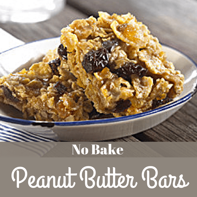No Bake Peanut Butter Bars with Kellogg's Frosted Flakes