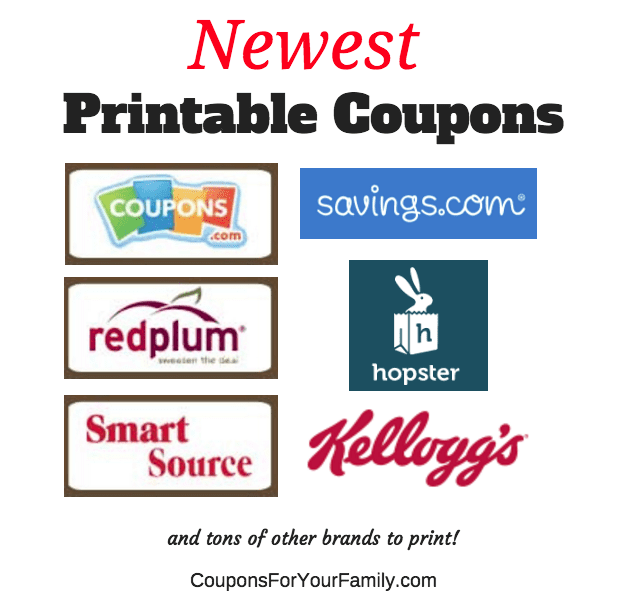 Newest Printable Coupons July 17:  Ziploc Containers, Pert Shampoo, Caribou Iced Coffee, Kellogg's Cereal & more