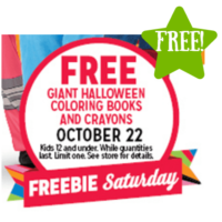 Kmart: FREE Giant Halloween Coloring Books and Crayons (10/22 Only)