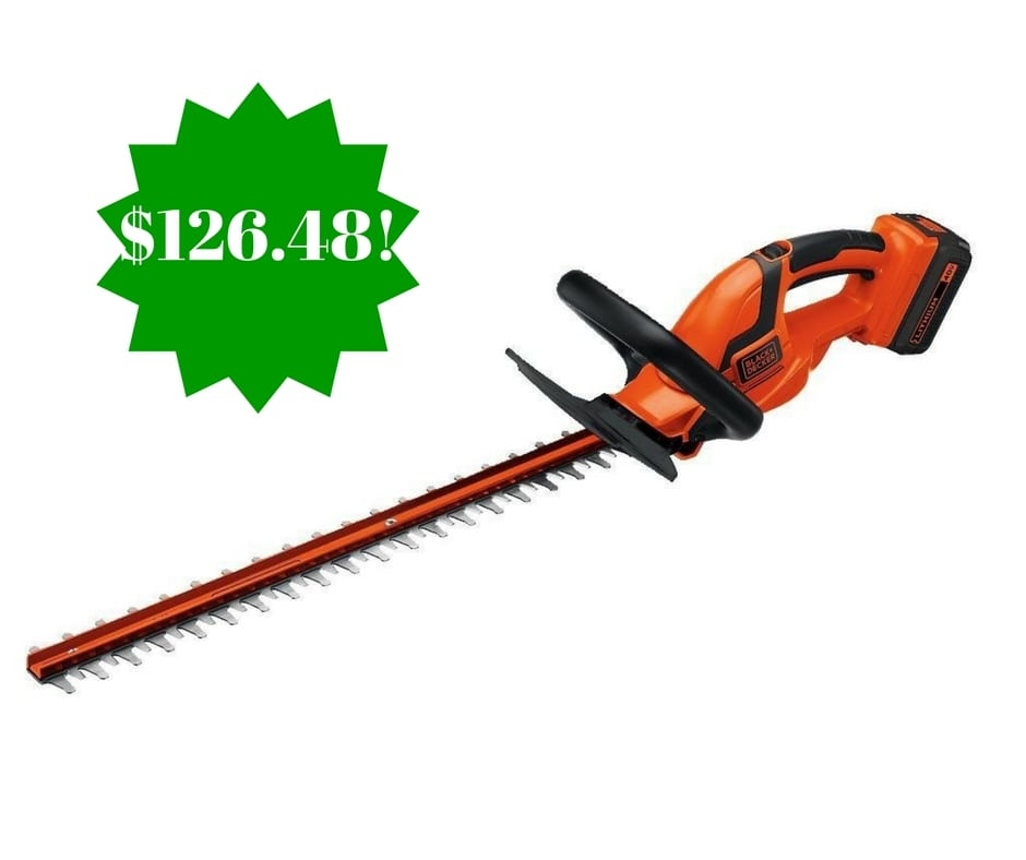 Amazon: BLACK+DECKER 24-Inch 40-Volt Cordless Hedge Trimmer Only $126.48 Shipped