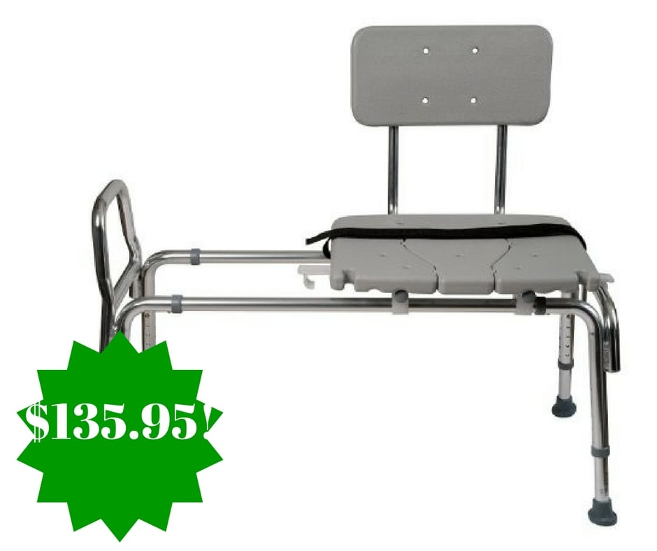 Amazon Duro Med Heavy Duty Sliding Transfer Bench Shower Chair Only Shipped