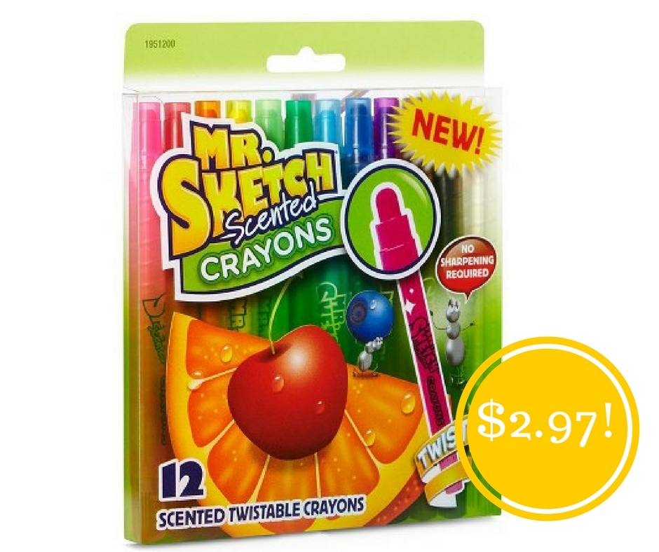 Walmart: Mr. Sketch Scented Twistable Crayons Only $2.97