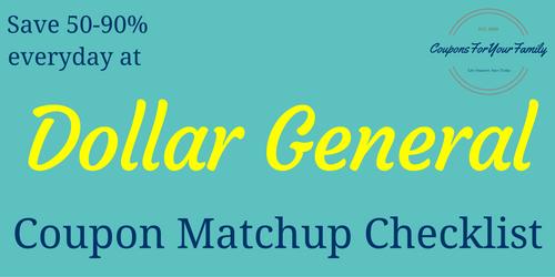 Dollar General Coupons & Deals
