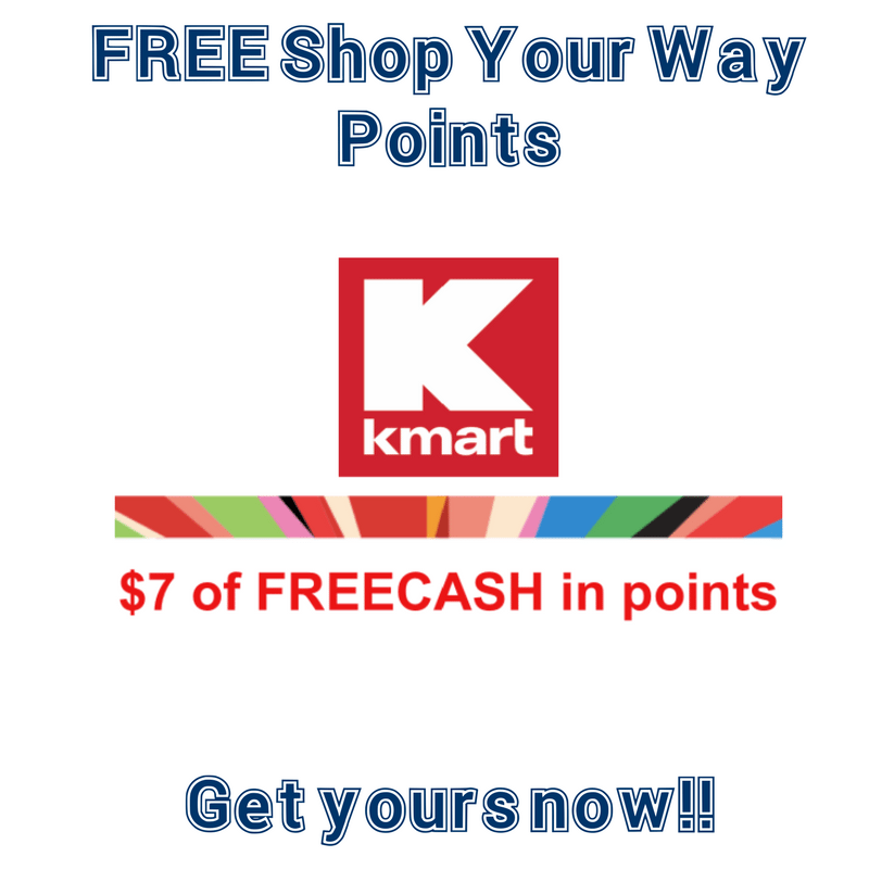 **HURRY** FREE Shop Your Way Points via Text for KMART- get $5-$7 NOW