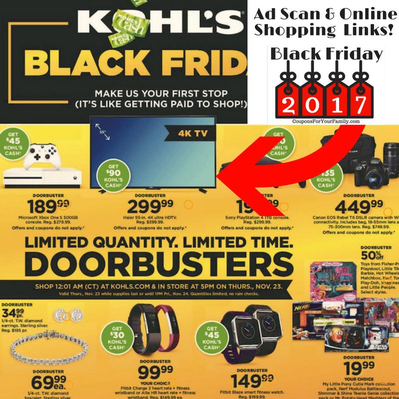 Kohls Black Friday Ad 2017 Released! Full Ad & Online shopping links!