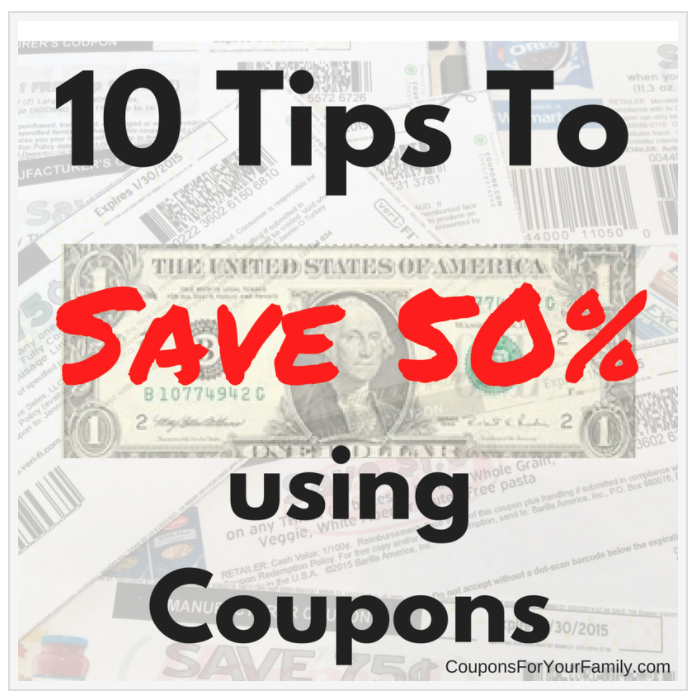 10 tips to save 50% with Coupons