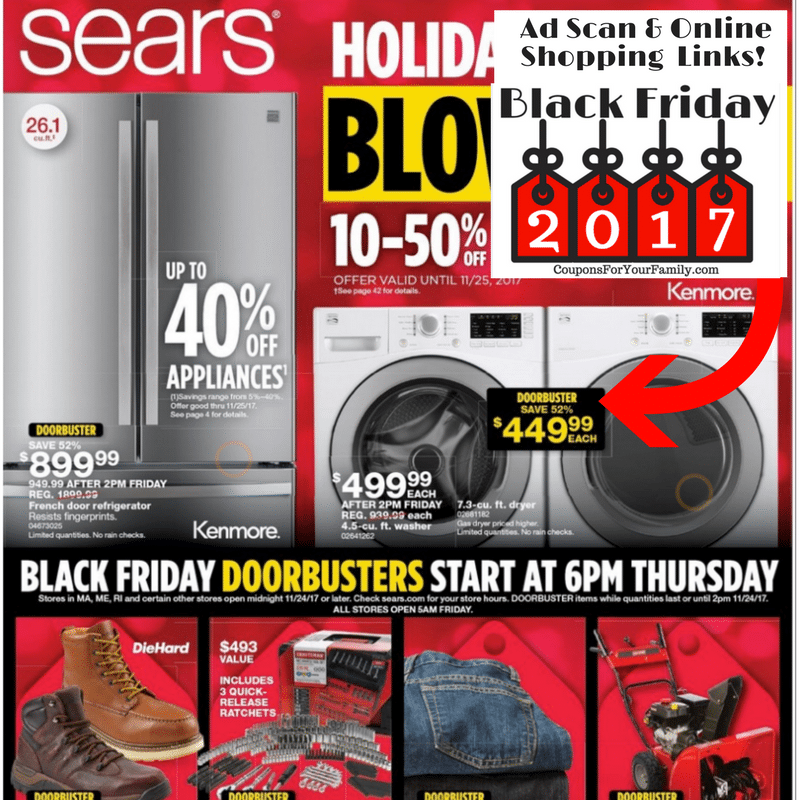 Sears Black Friday Ad Scan & Deals 2017!