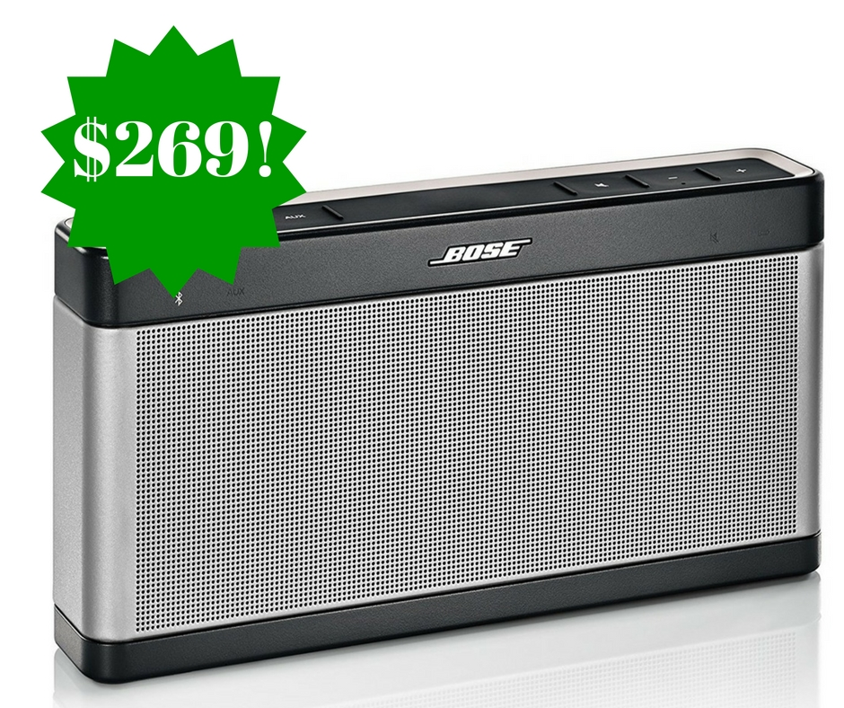 Amazon: Bose SoundLink Bluetooth Speaker III Only $269 Shipped