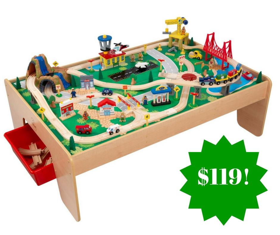 Amazon: KidKraft Waterfall Mountain Train Set and Table Only $119 Shipped