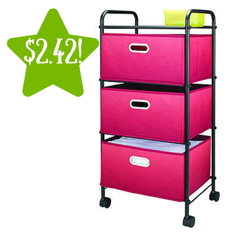 Kmart: Essential Home 3 Drawer Cart Only $2.42 After Points (Reg. $30)