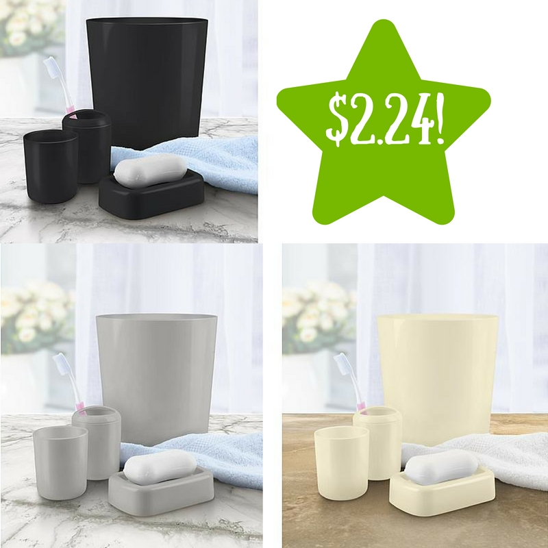kmart 4 piece bathroom accessory set only 224 reg 5 - Bathroom Accessories Kmart