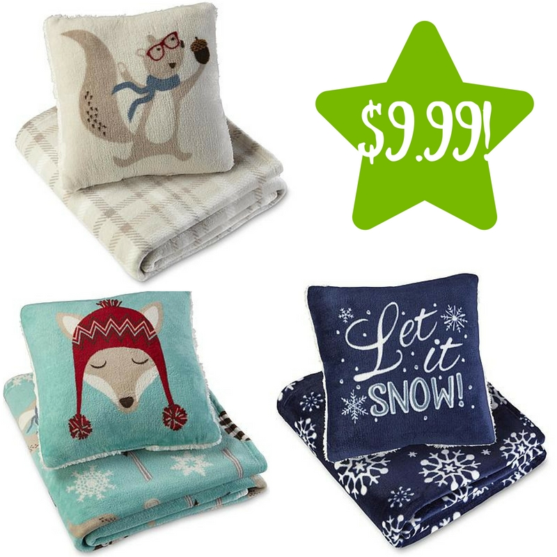 Kmart Pillow And Throw Set : Kmart: Cannon Pillow & Throw Sets Only $9.99