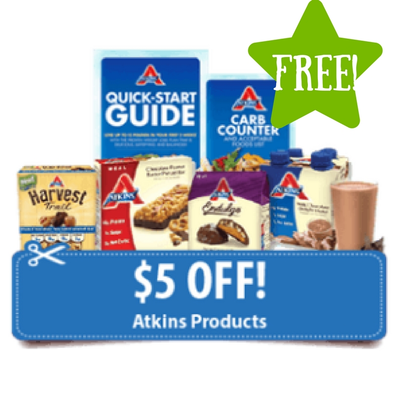 FREE Atkins Quick-Start Kit + $5 Off Coupon