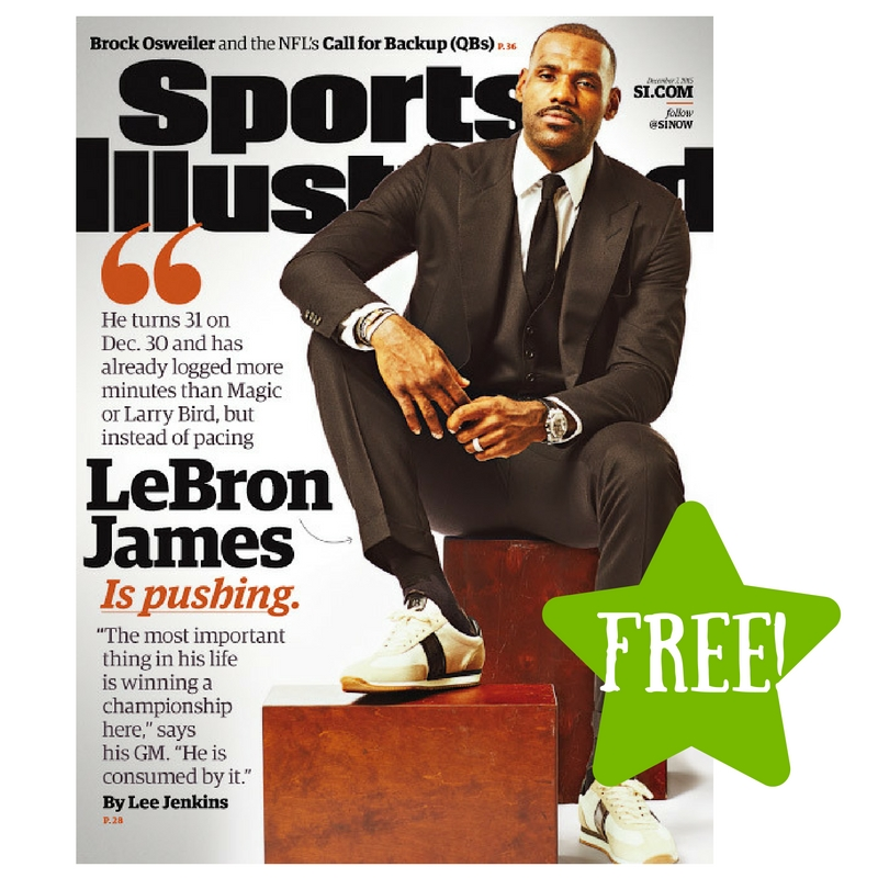 FREE Complimentary Subscription to Sports Illustrated