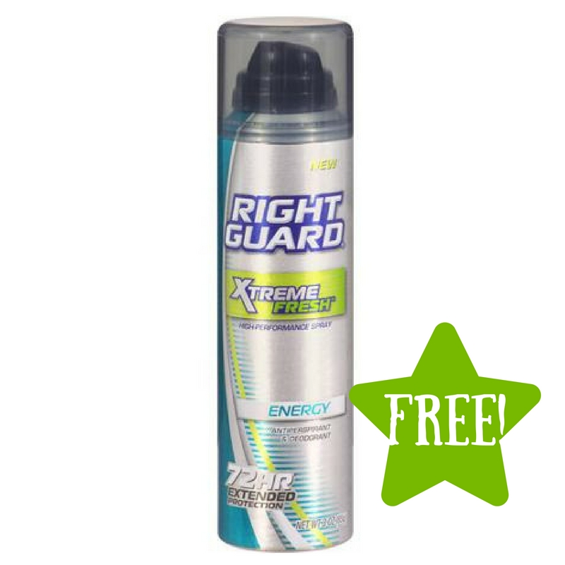 Dollar Tree: FREE Right Guard Extreme 72 Hour Spray Deodorant