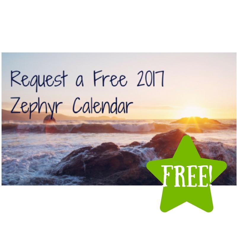 FREE 2017 Zephyr Calendar