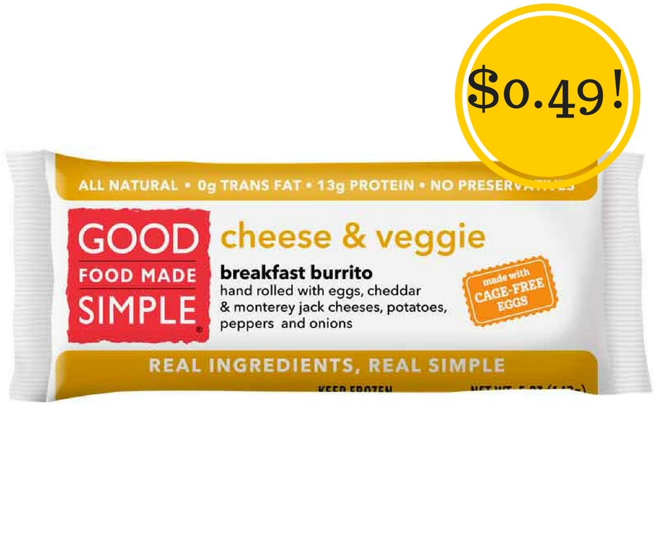 Target: Good Food Made Simple Breakfast Burrito Only $0.49