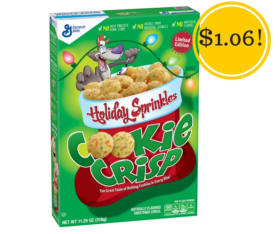 Target: Cookie Crisp Cereal with Holiday Sprinkles Only $1.06