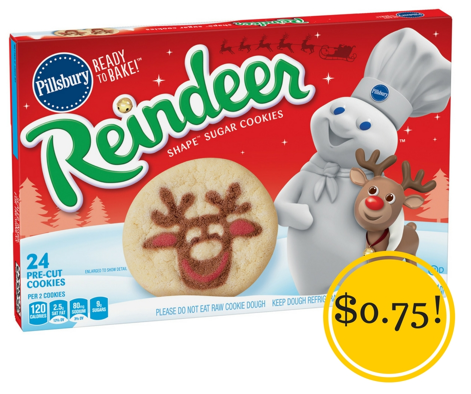 Target: Pillsbury Holiday Refrigerated Ready to Bake Cookies Only $0.75