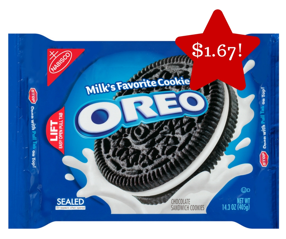 Tops: Nabisco Oreo Cookies Only $1.67