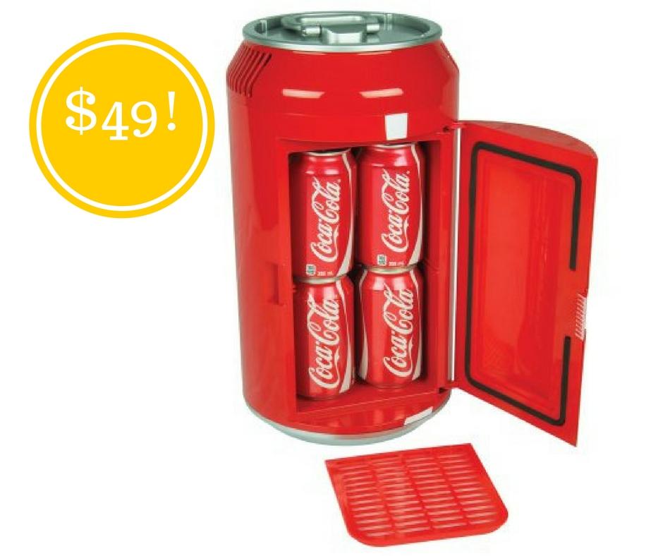 Walmart: Coca Cola Mini Can Fridge Only $49 (Reg .$90)