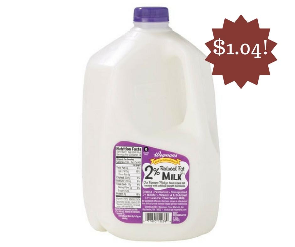 Wegmans: Wegman's Milk Only $1.04