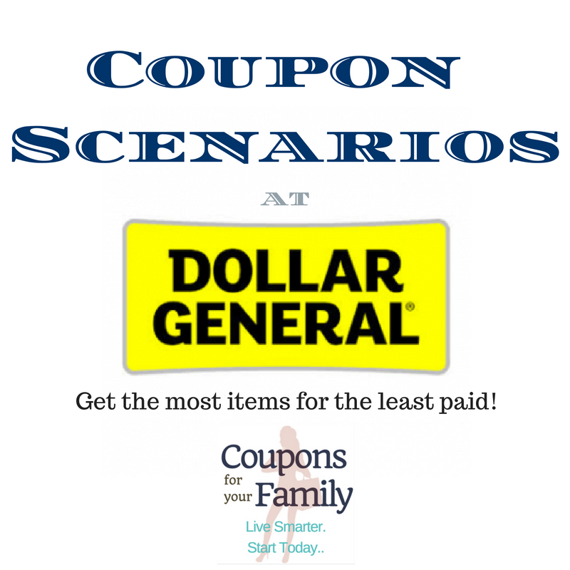 Dollar General Coupon Scenario 12/18 only: 20 items inc Toilet paper, dryer sheets, M&M's and more for only $.56 each!