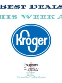 Kroger Weekly Ad Deals