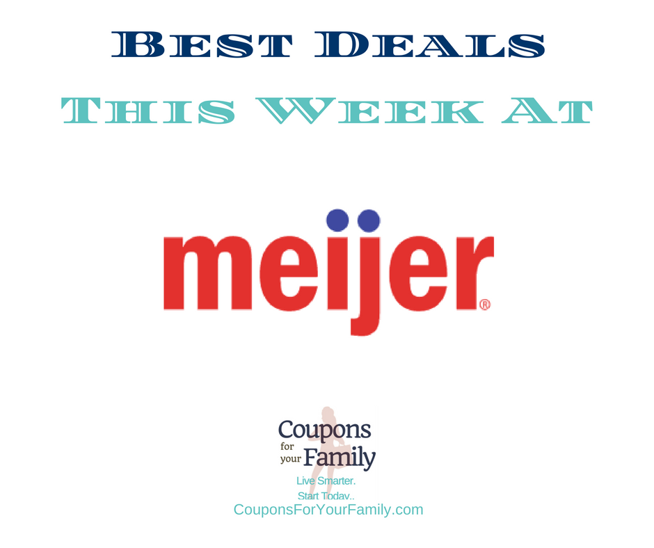 Meijer Ad and Meijer Coupons 7/9-7/15:  $0.50 Zatarain's Rice Mix, $0.89 Nabisco Crackers, $1.75 Bob Evans Side Dish & more