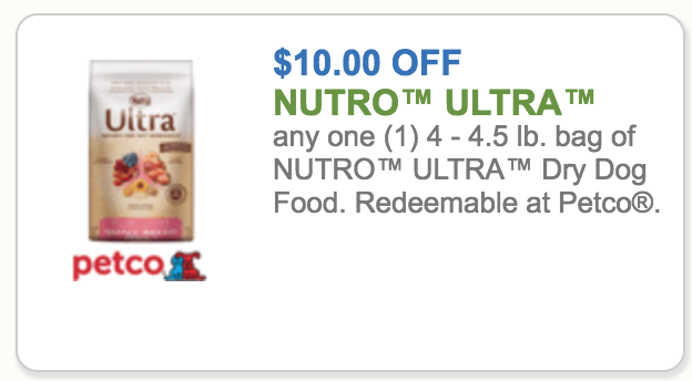 petco coupons nutro ultra dog food get now for only 55 70lb