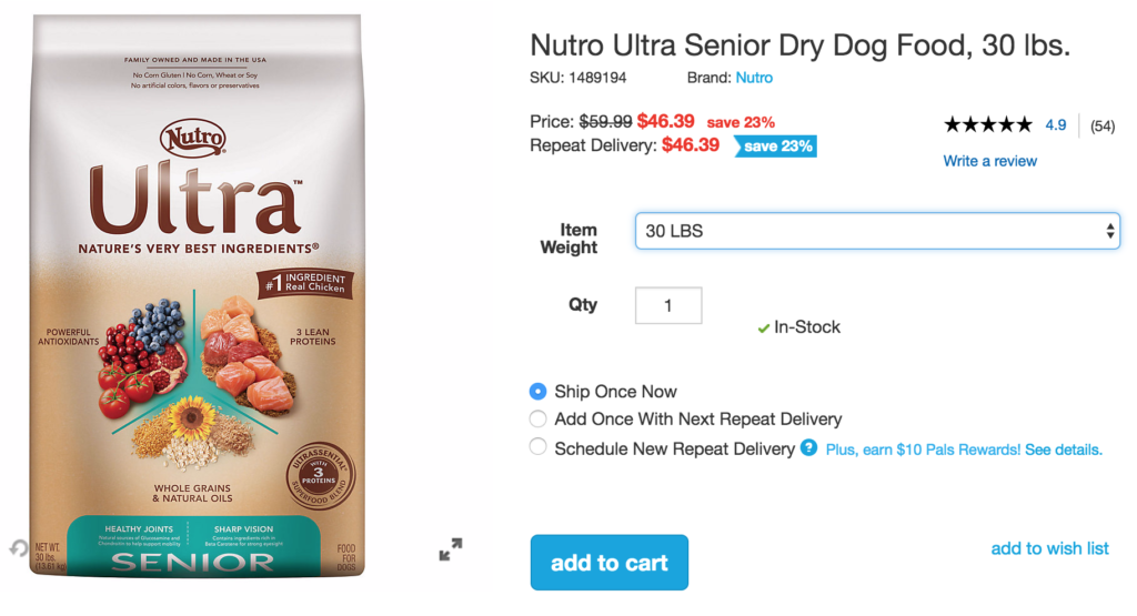 Nutro Ultra Dog Food Coupons
